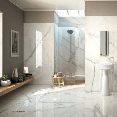 Revestimentos especiais para banheiro ville rose cer mica for Ceramica porcelanato