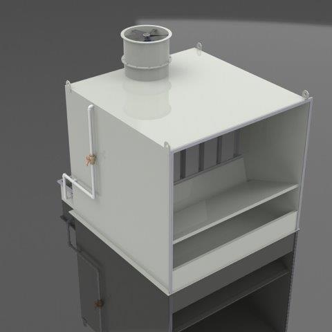 Filtro para cabine de pintura