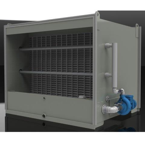 Lavador de ar adiabático