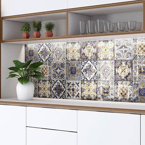 Revestimentos de parede patchwork