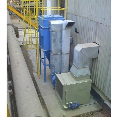 Sistema de exaustão e ventilação industrial