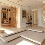 Piso de mármore travertino romano